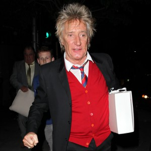 Rod Stewart leaving Bouchon's in Beverly Hills