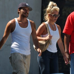 Britney Spears and fiancee shopping in Los Angeles
