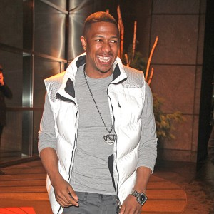 Nick Cannon spotted smiling when leaving a hotel in New York City