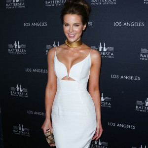 Kate Beckinsale arrives at the Battersea Power Station Global Launch Party