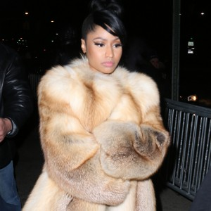 Nicki Minaj at the Marc Jacobs show in New York City.